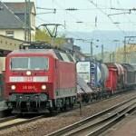 Ein DB Schenker-Güterzug