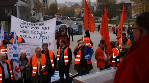 ETF-Kundgebung in Saarbrücken